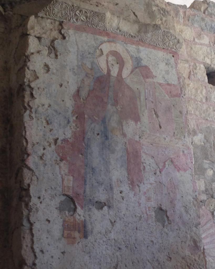Благовещение Пресвятой Богородицы, фрагмент фрески
